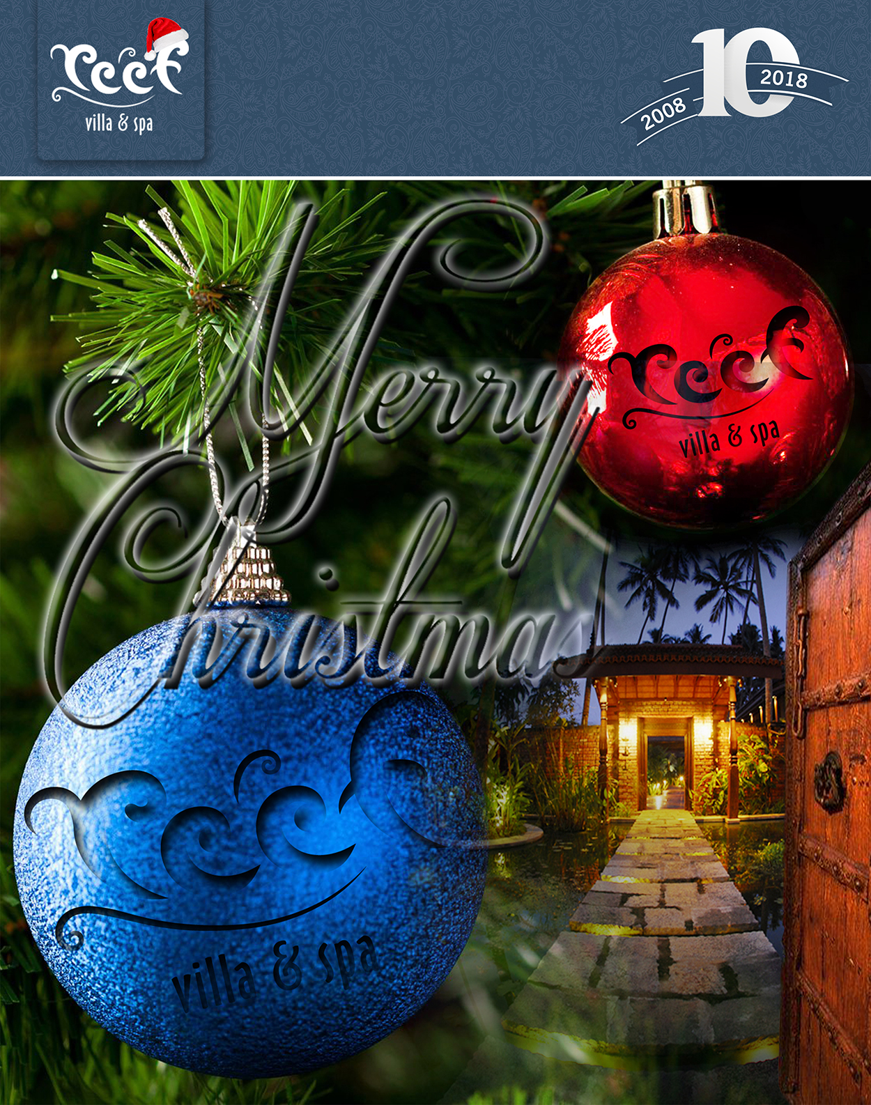 Happy Christmas 2017 from Reef Villa & Spa
